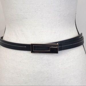 Guess genuine leather black belt size medium
